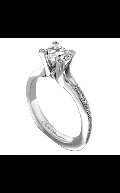 Claude Thibaudeau European Micro-Pave Engagement ring PLT-1898-MP product image