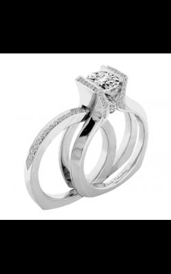 Claude Thibaudeau European Micro-Pave Engagement ring PLT-1923-MP product image