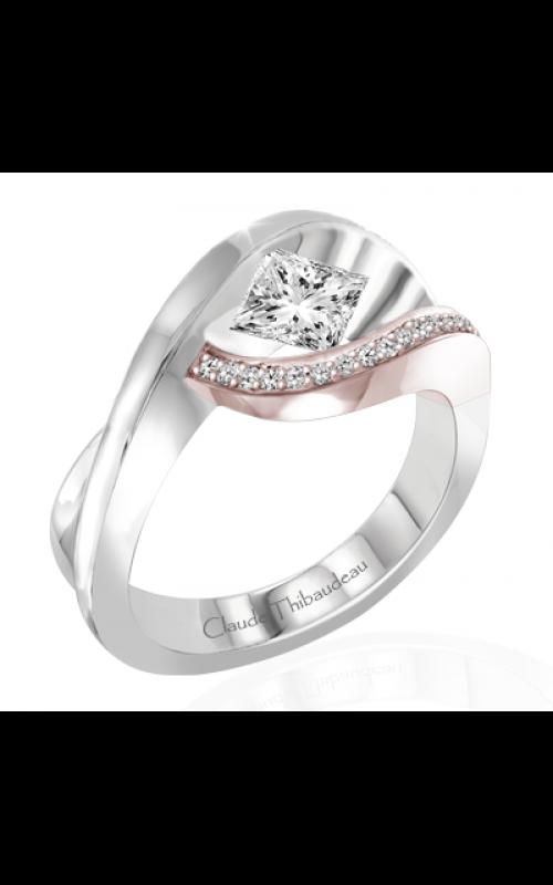 Claude Thibaudeau European Micro-Pave Engagement ring PLT-1927R-MP product image