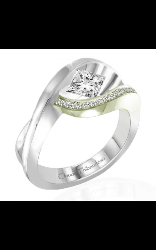 Claude Thibaudeau European Micro-Pave Engagement ring PLT-1927V-MP product image
