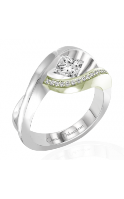 Claude Thibaudeau European Micro-Pave Engagement ring PLT-1927V-MP product image