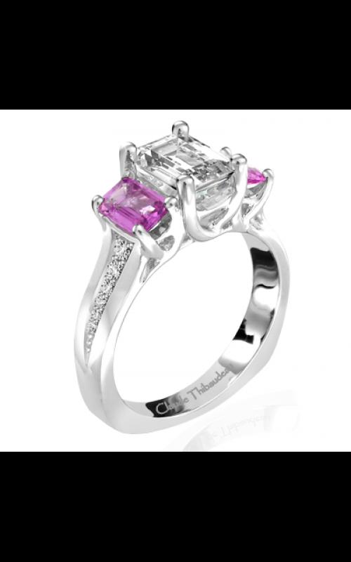 Claude Thibaudeau European Micro-Pave Engagement ring PLT-1951-MPR product image