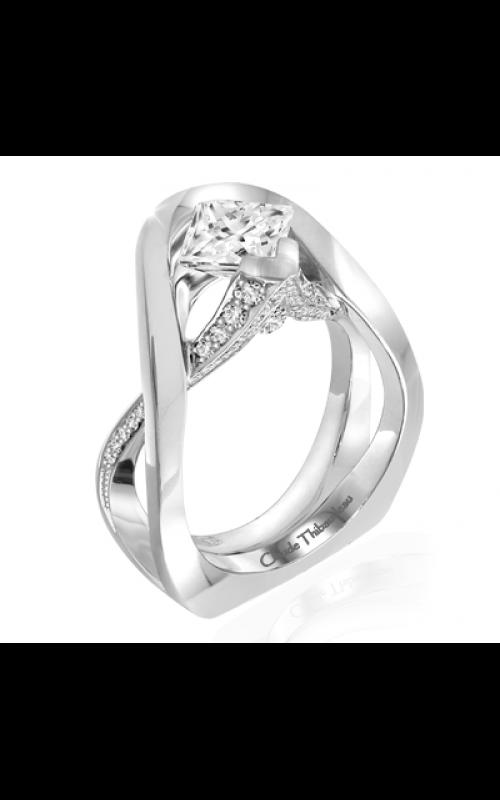Claude Thibaudeau European Micro-Pave Engagement ring PLT-1958-MP product image
