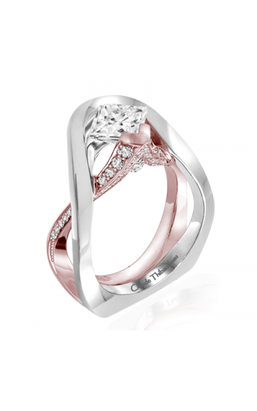 Claude Thibaudeau European Micro-Pave Engagement ring PLT-1958R-MP product image