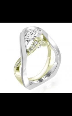 Claude Thibaudeau European Micro-Pave Engagement ring PLT-1958V-MP product image