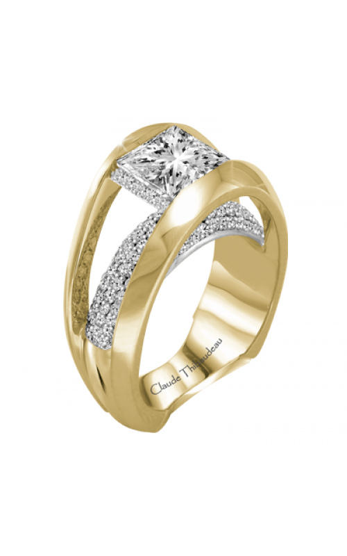 Claude Thibaudeau European Micro-Pave Engagement ring PLT-2883-MP product image