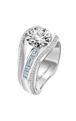 Claude Thibaudeau Just Released Engagement ring PLT-10203-MP-BD product image