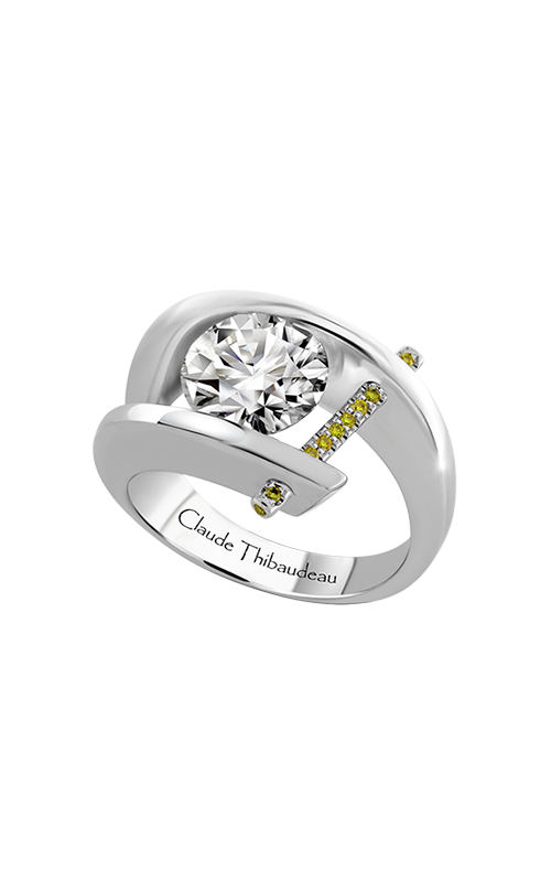 Claude Thibaudeau Just Released Engagement ring PLT-1072-MP-BYD product image