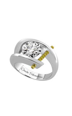 Claude Thibaudeau Just Released Engagement ring PLT-1072Y-MP-BYD product image