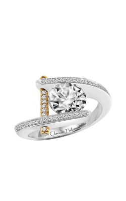 Claude Thibaudeau Just Released Engagement Ring PLT-1837Y-MP product image