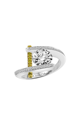 Claude Thibaudeau Just Released Engagement Ring PLT-1837Y-MP-BYD product image