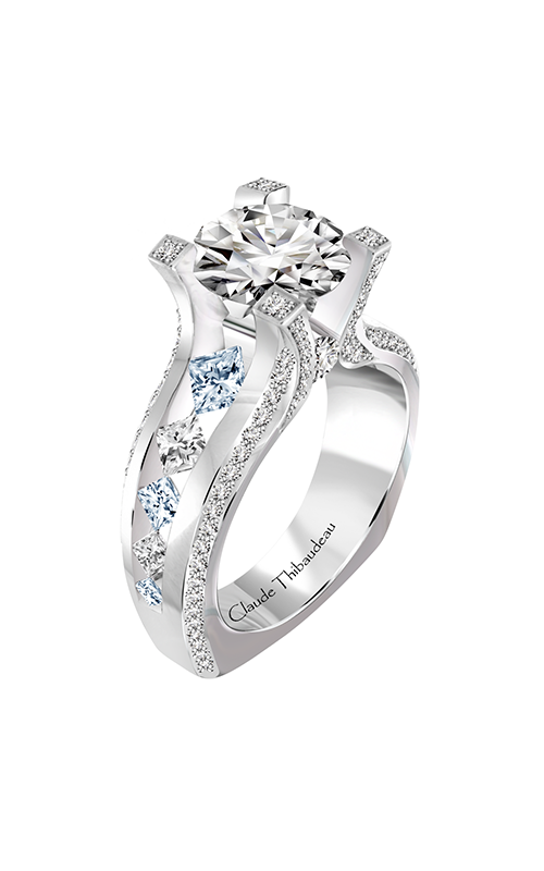 Claude Thibaudeau La Royale Engagement ring PLT-10193-MP-SE-BDT product image