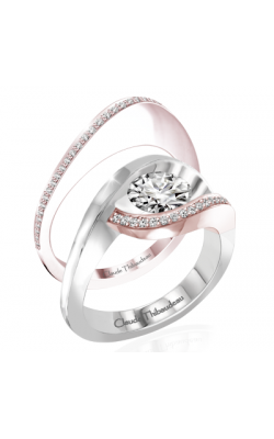 Claude Thibaudeau Petite Designs Engagement Ring PLT-10007R-MP product image