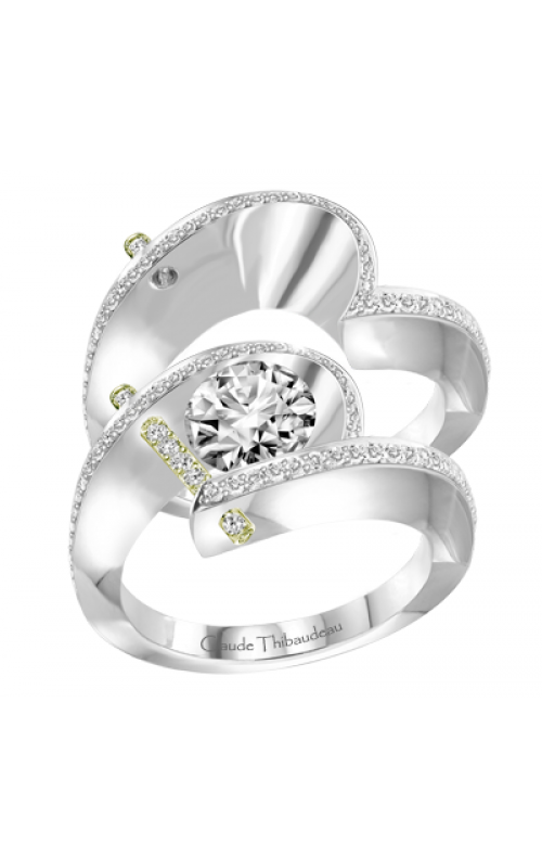 Claude Thibaudeau Pure Perfection Engagement ring PLT-1940V-MP product image
