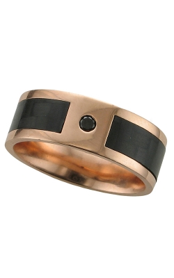 GMG Jewellers Wedding Band 14KR8F15SEG/CFBLKDIA product image