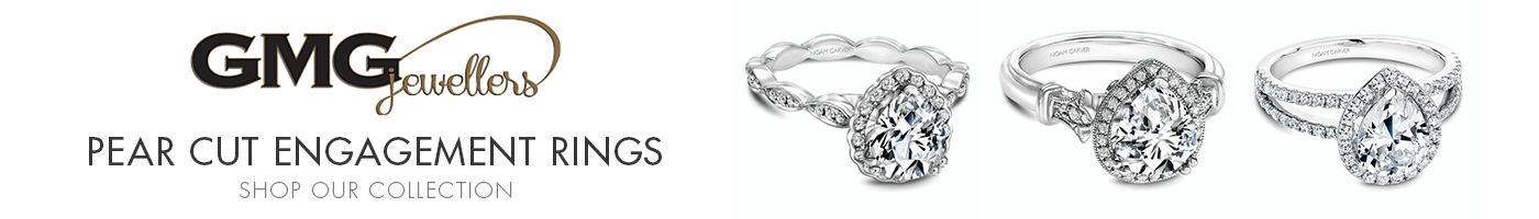Pear Shaped Engagement Rings at GMG Jewellers