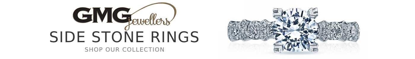Side Stone Engagement Rings at GMG Jewellers