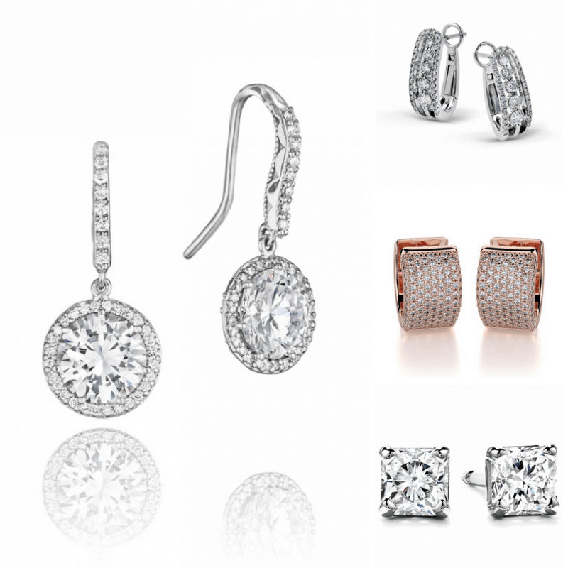 Diamond earrings by hearts on fire, simon g, tacori, zeghani, and michael m