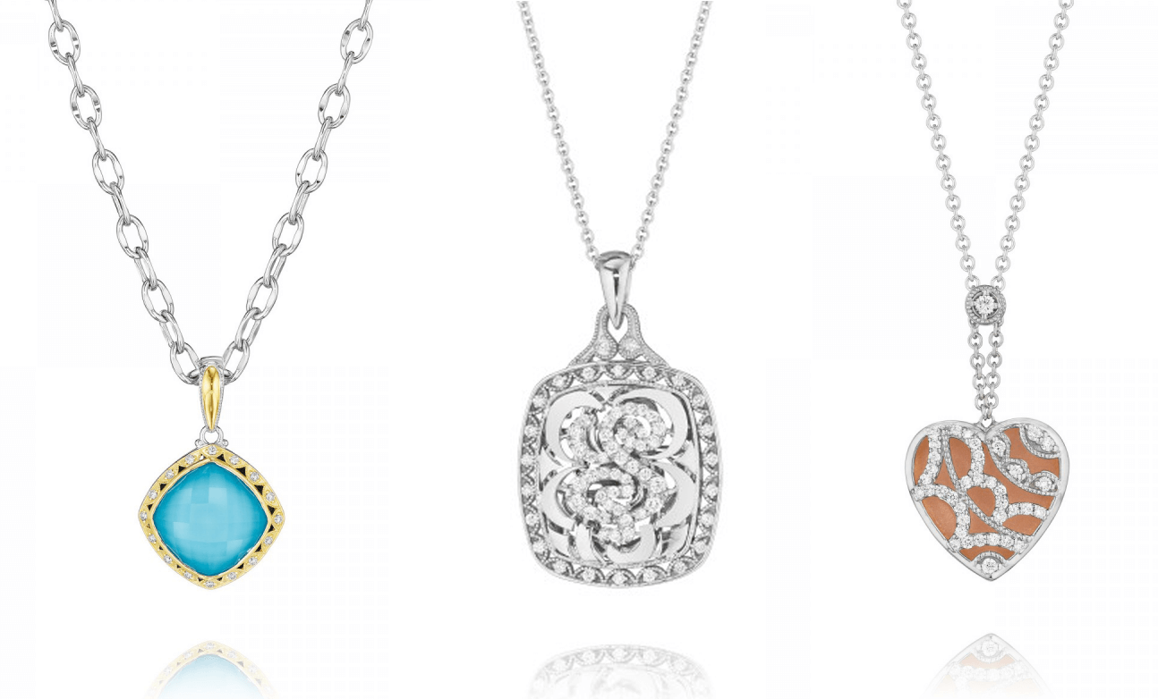 Tacori diamond pendant necklaces from GMG Jewellers
